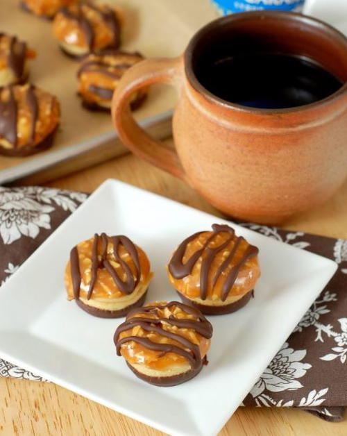 Girl Scout Samoas Baked Mini Donuts