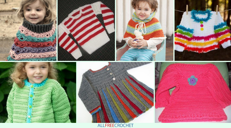 15 Free Crochet Sweater Patterns For Children Allfreecrochet Com