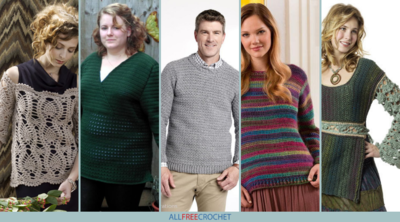 30+ Crochet Sweater Patterns