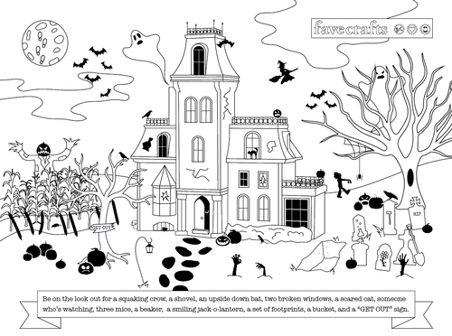 Halloween Free Printable Hidden Picture for Adults