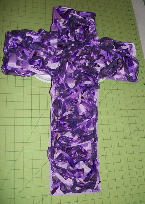 Decorative Ribbon Cross