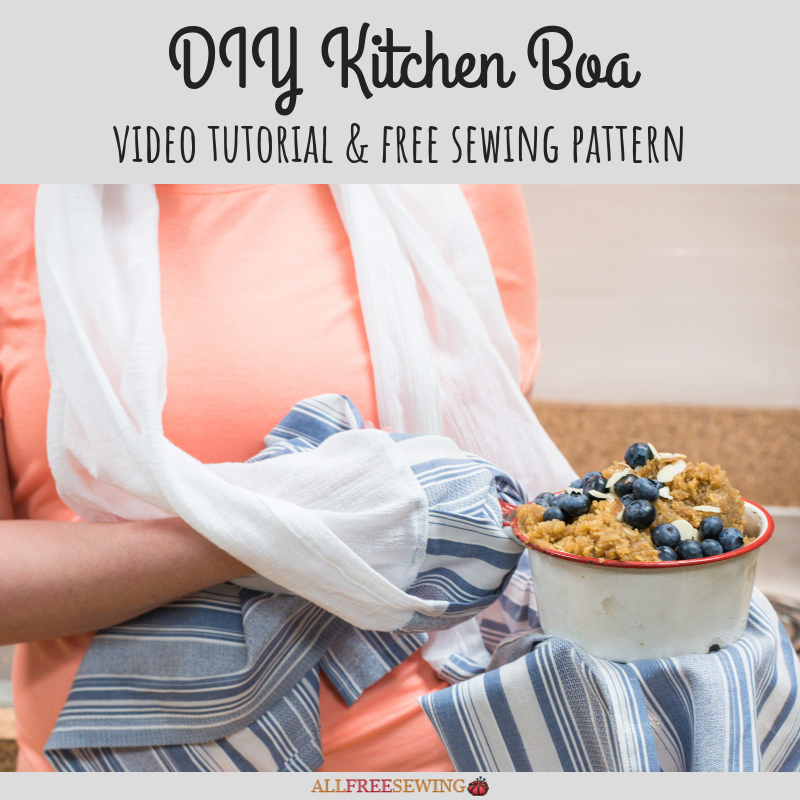 Diy Kitchen Towel Boa Video Tutorial Allfreesewing Com
