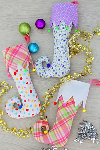 Colorful Elf Stocking Pattern