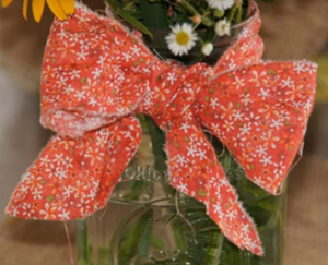 How to Tie a Fabric Bow on Mason Jar