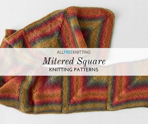 12 Mitered Square Knitting Patterns Allfreeknitting Com