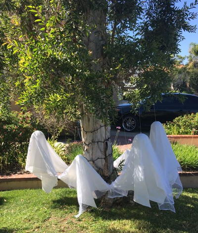 Frolicking Front Yard Ghosts