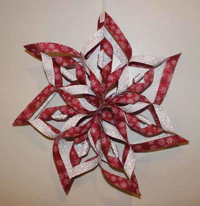 No Sew Fabric Snowflake