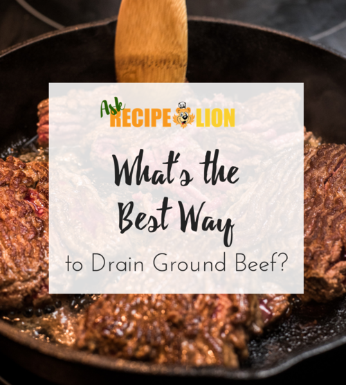 How to Drain Ground Beef