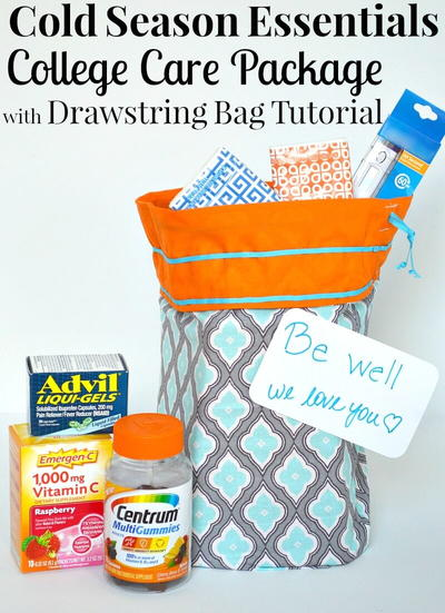 Cold Season Care Package and Drawstring Storage Bag
