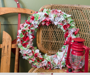 Spirit of Christmas Fabric Wreath Tutorial