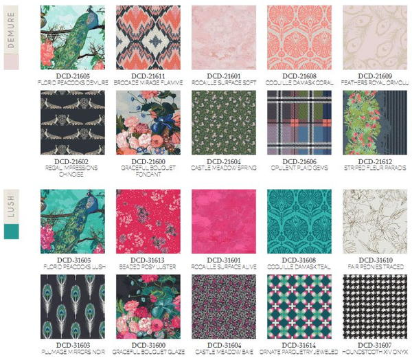 Decadence Fabric Collection