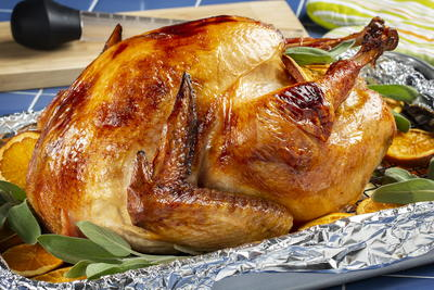 Orange-Glazed Roasted Turkey