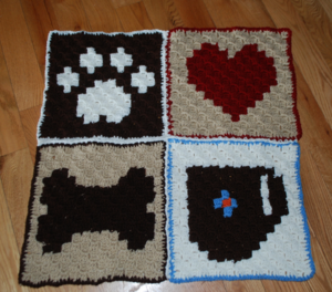 Pixel Graph Dog Blanket
