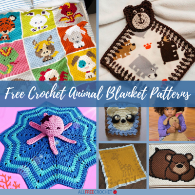 27+ Free Crochet Animal Blanket Patterns | AllFreeCrochet com