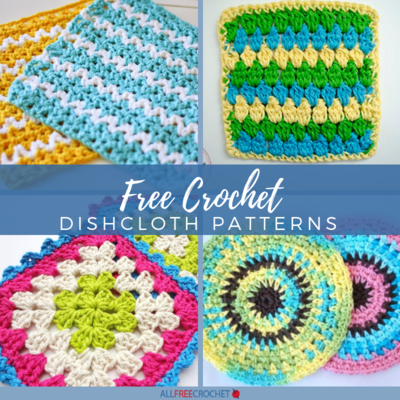 47 Free Crochet Dishcloth Patterns | AllFreeCrochet com