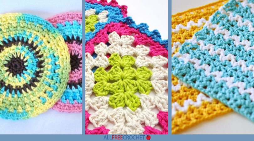 47 Free Crochet Dishcloth Patterns Allfreecrochetcom