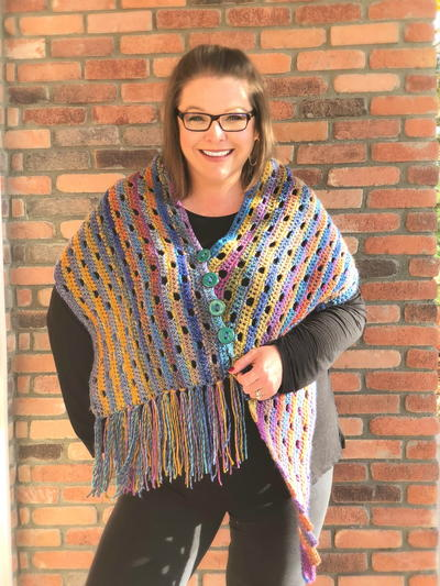 Super Simple Lucky Stripes Shawl
