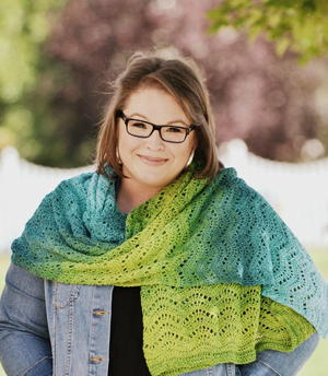 Chevron Waves Lace Wrap