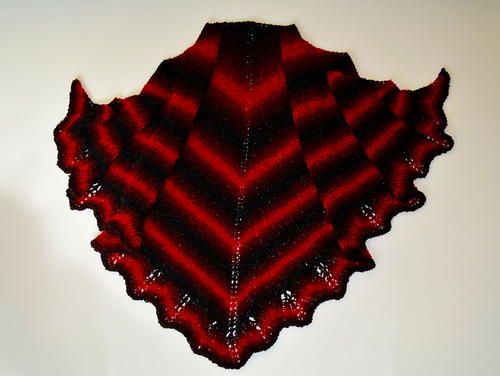 Blood Bat Shawl Knit Pattern