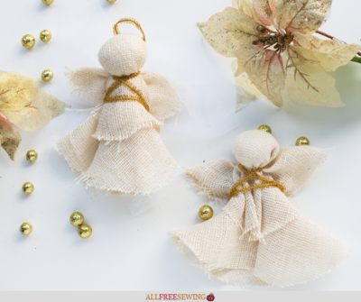 Rustic DIY Angel Ornaments