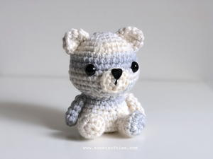 Peyton the Polar Bear Amigurumi Teddy Animal Doll for Christmas