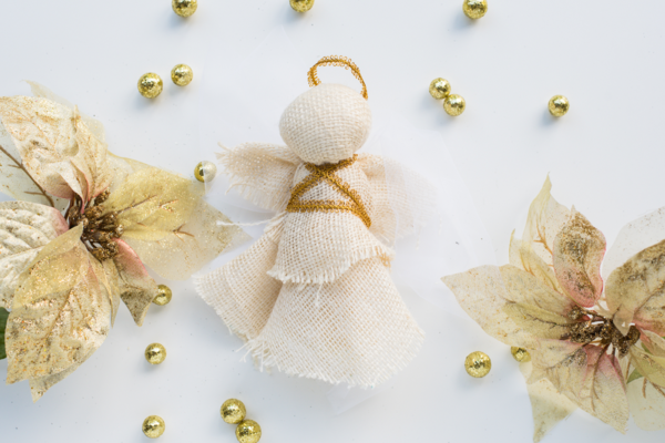 Rustic Country Angel Ornament