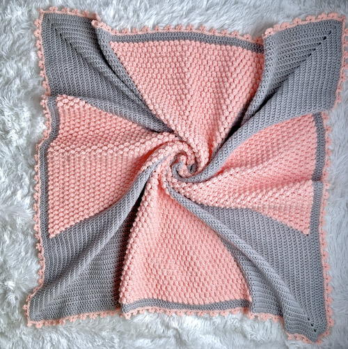Cross My Heart Baby Blanket