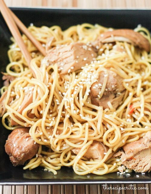 Slow Cooker Honey Sesame Chicken with Noodles