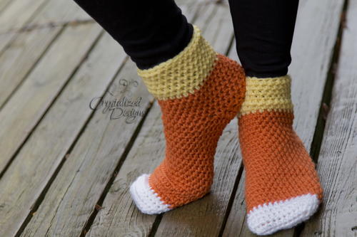 Candy Corn Socks Adult Sizes