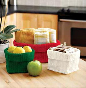 Crochet Stash Baskets