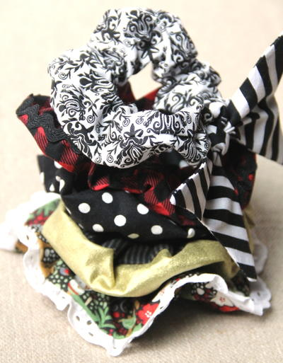Hair Scrunchies with Variations