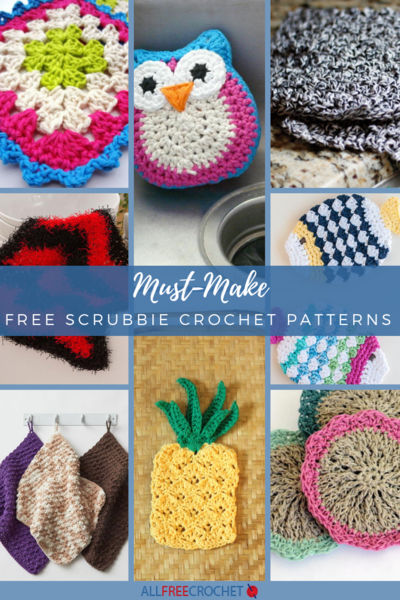 21 Must Make Free Dishcloth Scrubbie Crochet Patterns