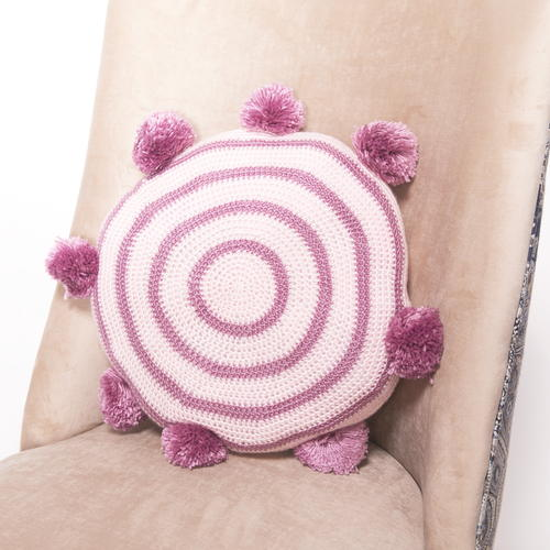 Pom Pom Cushion Crochet Pattern