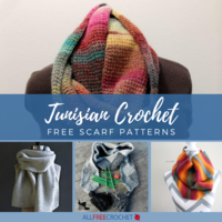 15 Free Tunisian Crochet Scarf Patterns