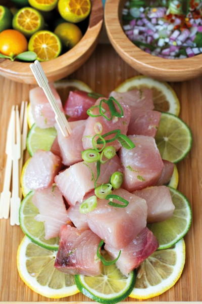 Raw Yellowtail with Calamansi and Vinegar