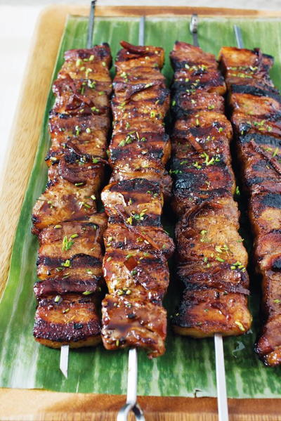 Grilled Pork Belly Skewers