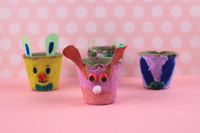 DIY Craft For Kids Cute Rabbit Planters