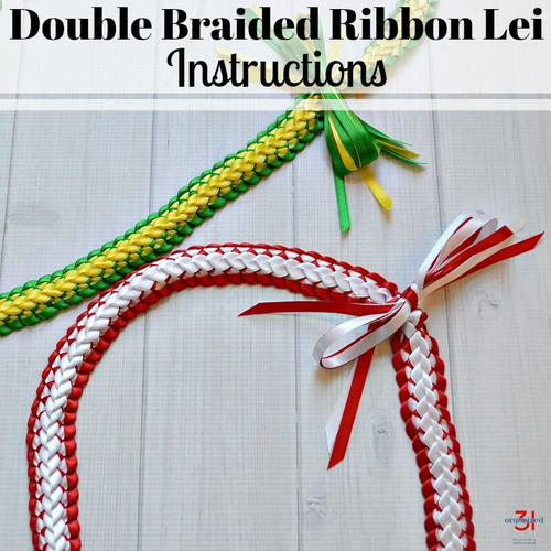 Double Braided Ribbon Lei Tutorial