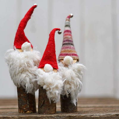 Recycled Norwegian Christmas Gnomes
