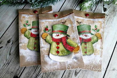 Quick Snowman Gift Bags