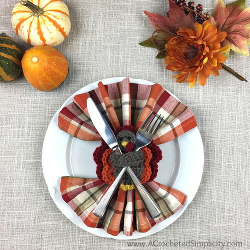 Turkey Napkin Ring & Flatware Holder