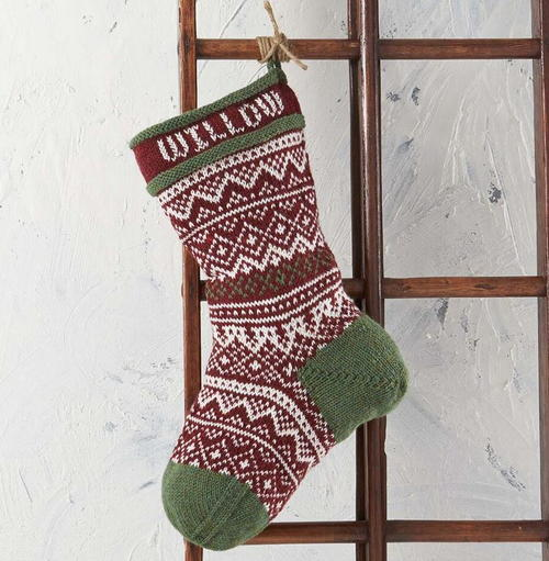 Vintage Christmas Stocking Knitting Pattern