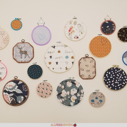Easiest Embroidery Hoop Wall Art