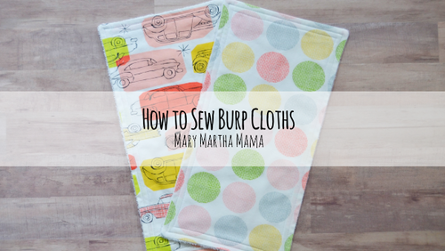 Easy Burp Cloths Video