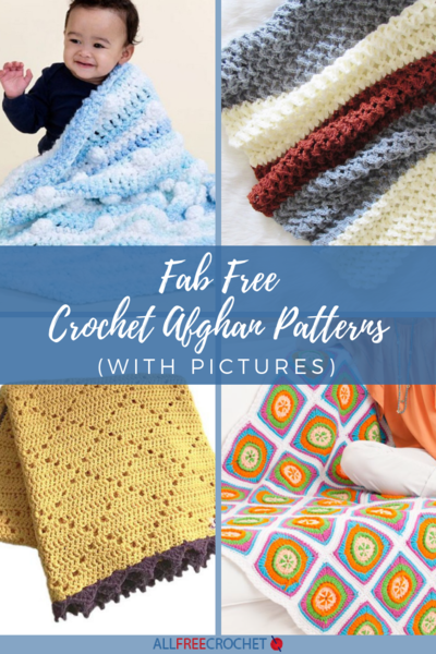 28 Fab Free Crochet Afghan Patterns with Pictures