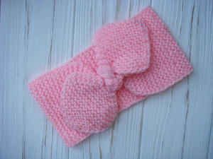 Garter Stitch Bow Headband