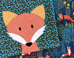 Crafty Fox Receiving Blanket Pattern