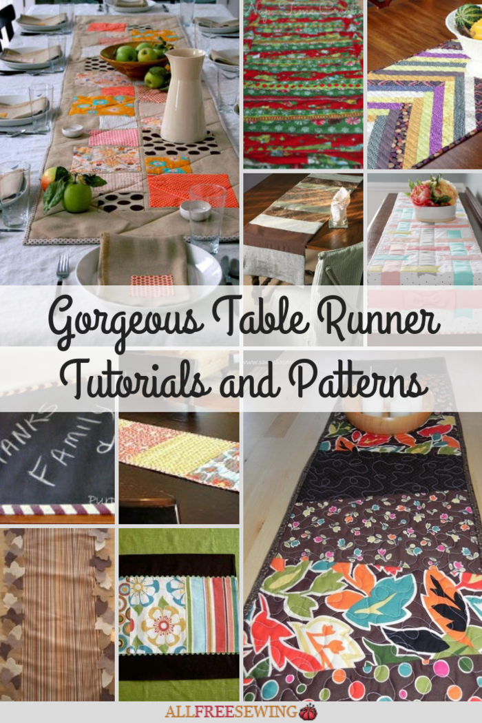 30 Gorgeous Table Runner Tutorials And Patterns Allfreesewing Com