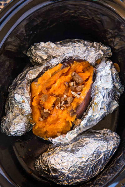 Slow Cooker Baked Sweet Potatoes