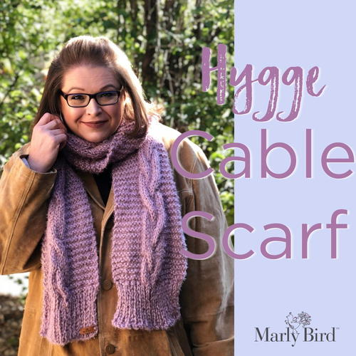 Hygge Cable Scarf Pattern